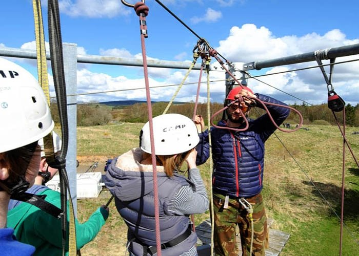 climbing zip wire instructor