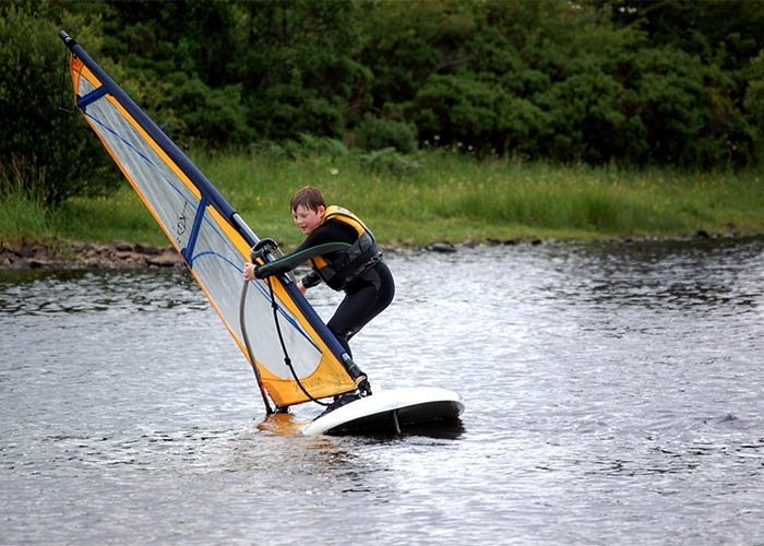 windsurfing lessons kids dumfries and galloway