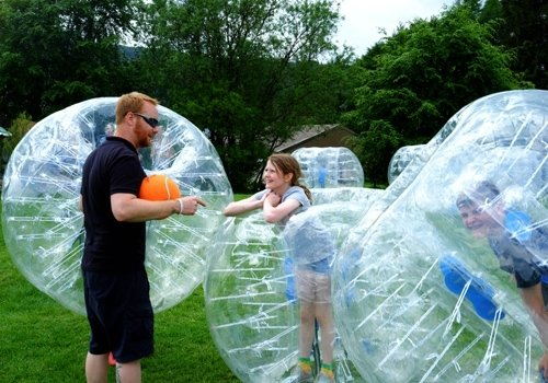 Zorbing activity on the Open day