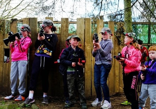Laser tag sessions, activity Open Day
