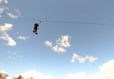 Zip Wire activity on the open day